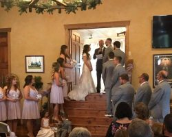 wedding reception at our winery