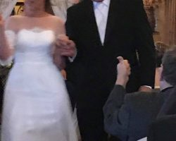 wedding bride and father